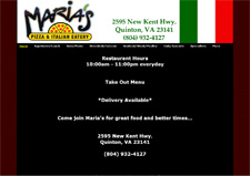 marias pizza new kent va
